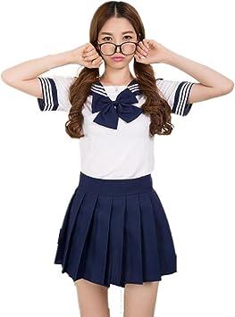 Colorfulworld Disfraz de colegiala, marinera, Anime, Uniforme ...