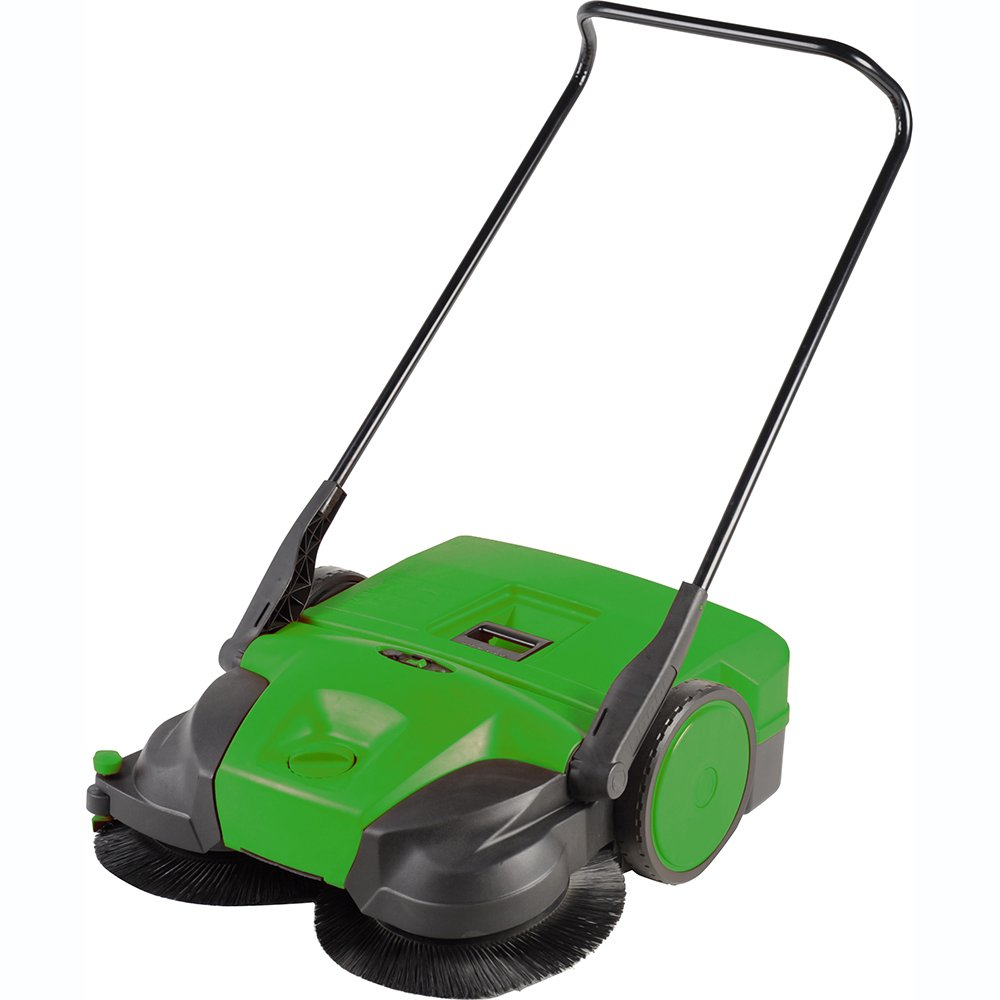 Bissell 31'' Battery Powered Triple Brush Push Power Sweeper, 13.2 Gal. Capacity