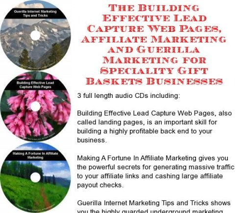 The Guerilla Marketing, Building Effective Lead Capture Web Pages, Affiliate Marketing for Speciality Gift Baskets Businesses (Speciality Gift Baskets)
