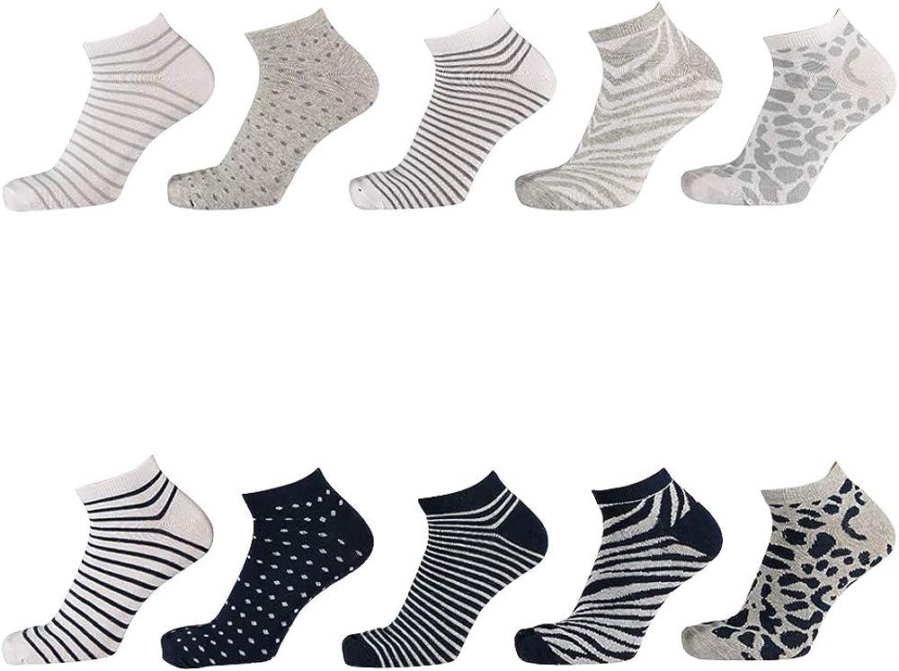 talla EU 38-40 Steven Cotton Low Cut Calcetines para mujer duraderos y c/ómodos feliz Navidad grafito