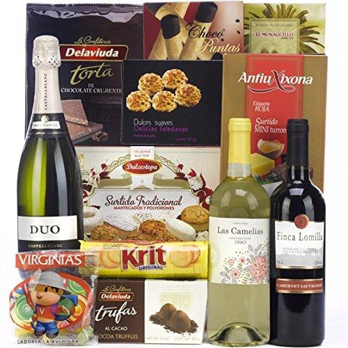 SADIVAL LOTES - Lote De Navidad Con Cava Vinos Dulces Y Trufas: Amazon.es: Alimentación y bebidas