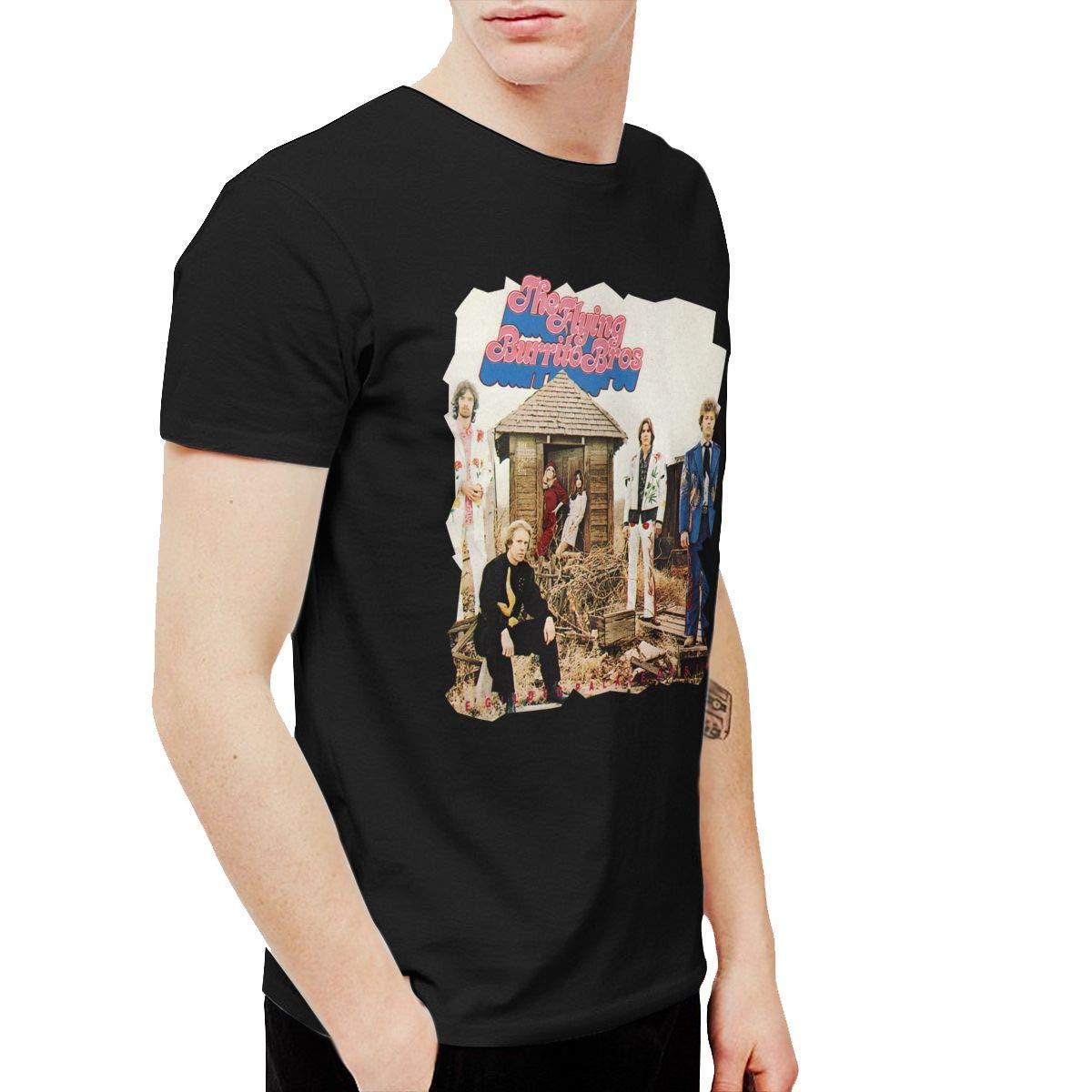 K-deio The Flying Burrito Brothers Wild Horses Mens T Shirts Black