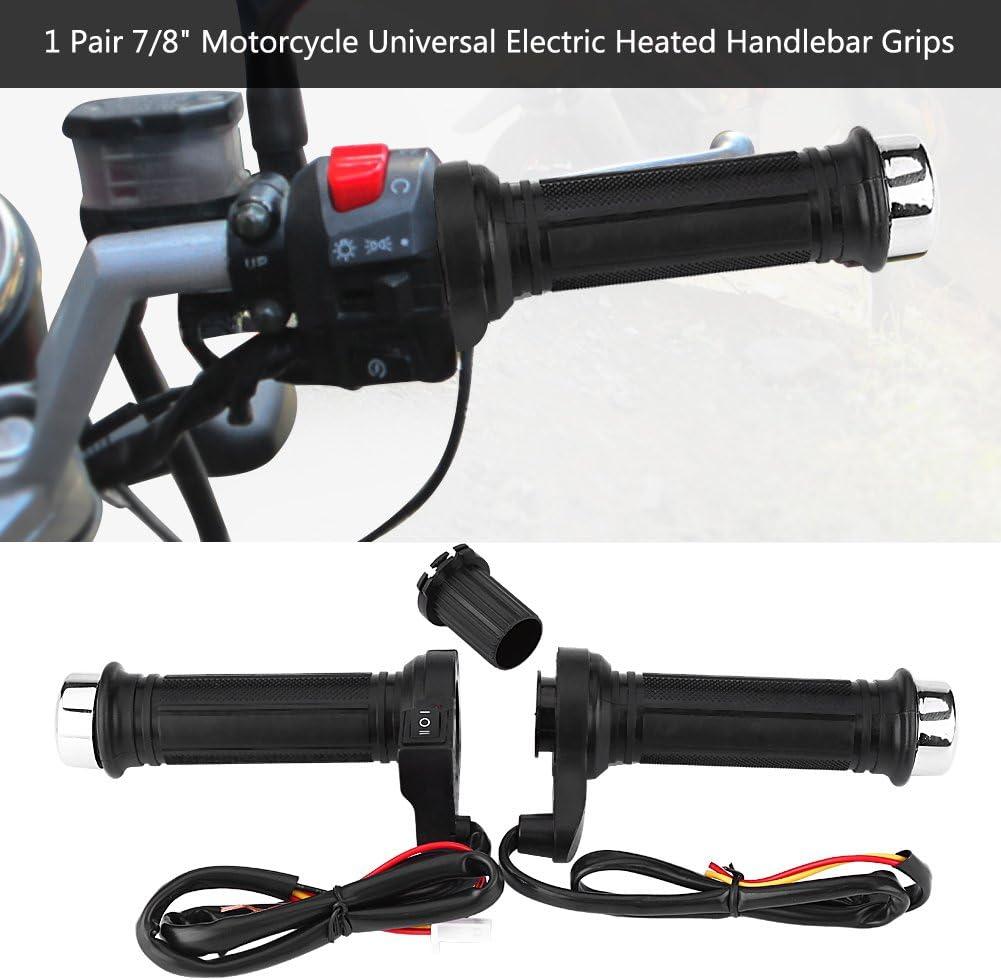 universale 1 paio 22mm Qiilu Moto Manopole manubrio Manubrio per maniglie calde riscaldate a caldo elettrico per moto 7//8