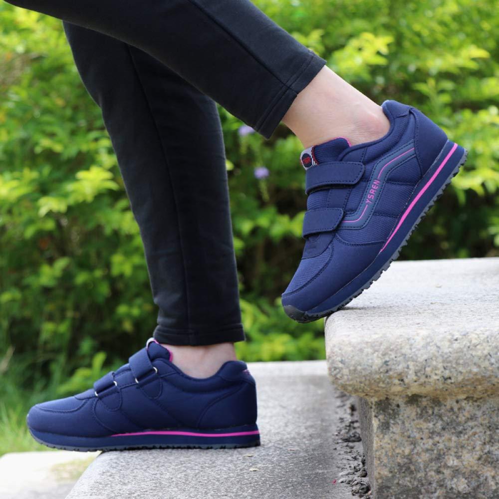 JZX Chaussures De Marche Marche, pour Personnes Âgées, Baskets, Baskets, Chaussures De Marche, Marche Chaussures De Randonnée 39|Bleu profond 3374c3