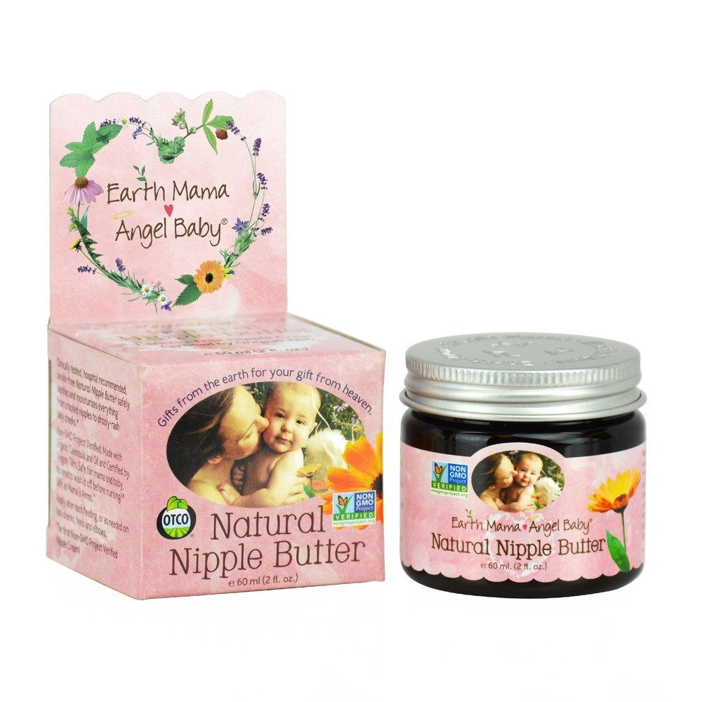 Natural Nipple Butter 2 fl. oz Earth Mama Angel Baby Nipple Cream