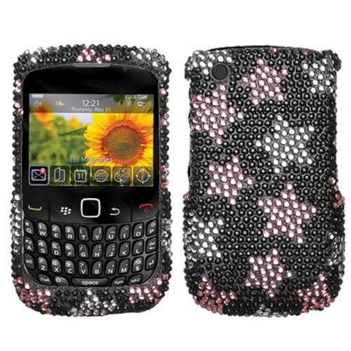 - Asmyna BB8520HPCDM104NP Dazzling Luxurious Bling Case for BlackBerry Curve 8520/8530/9300/9330 - 1 Pack - Retail Packaging - Falling Stars