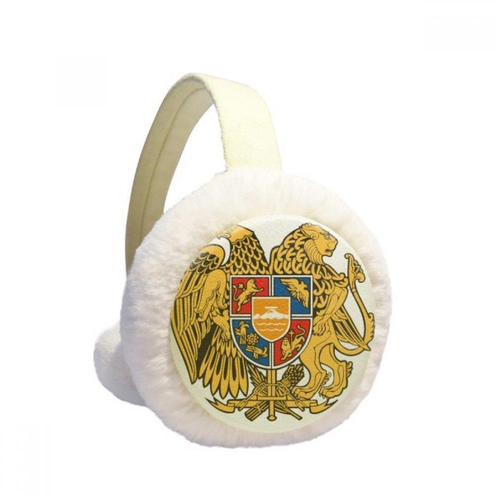 Yerevan Armenia National Emblem Winter Earmuffs Ear Warmers Faux Fur Foldable Plush Outdoor Gift