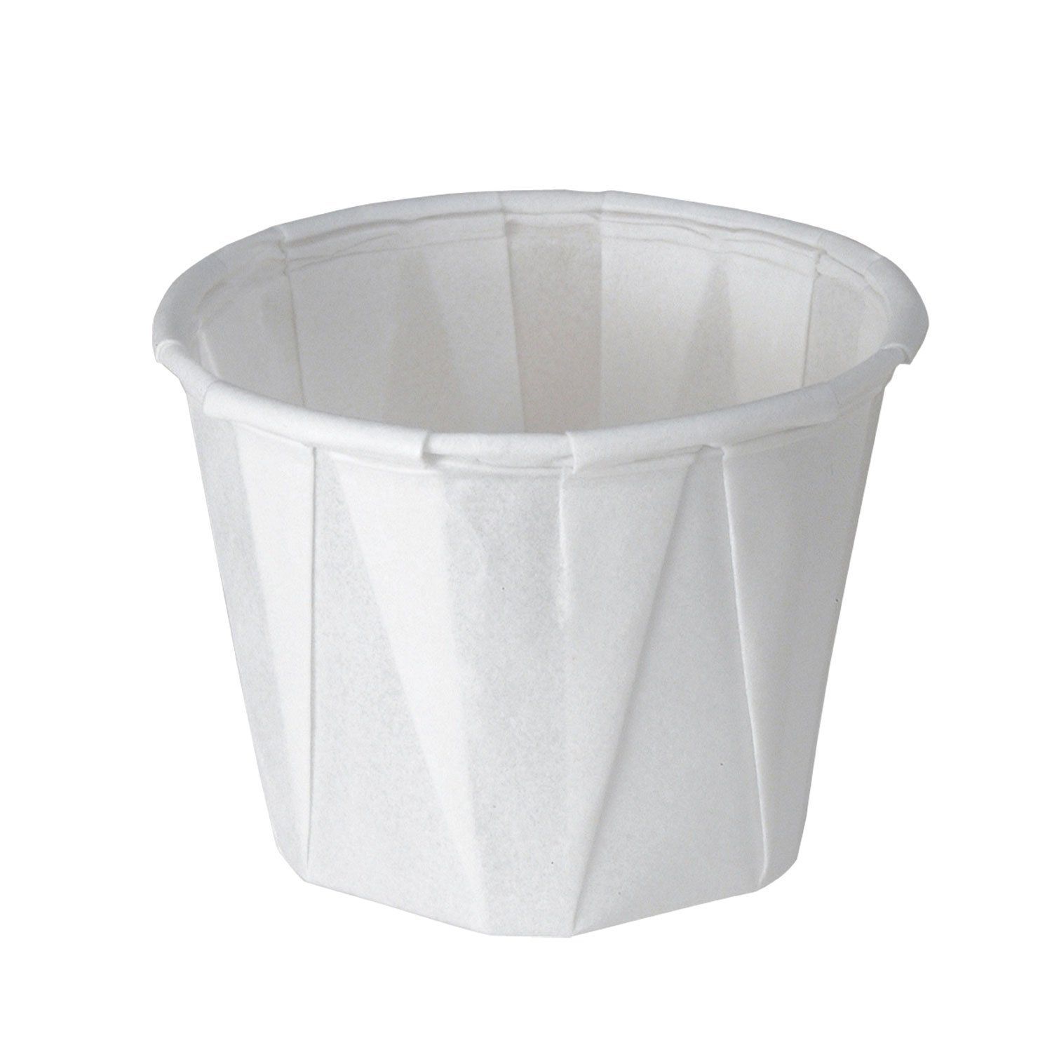 Solo 100-2050 1-oz. White Treated Paper Pleated Soufflé Portion Cup (2 Packs of 250 Cups) 100-2050-2