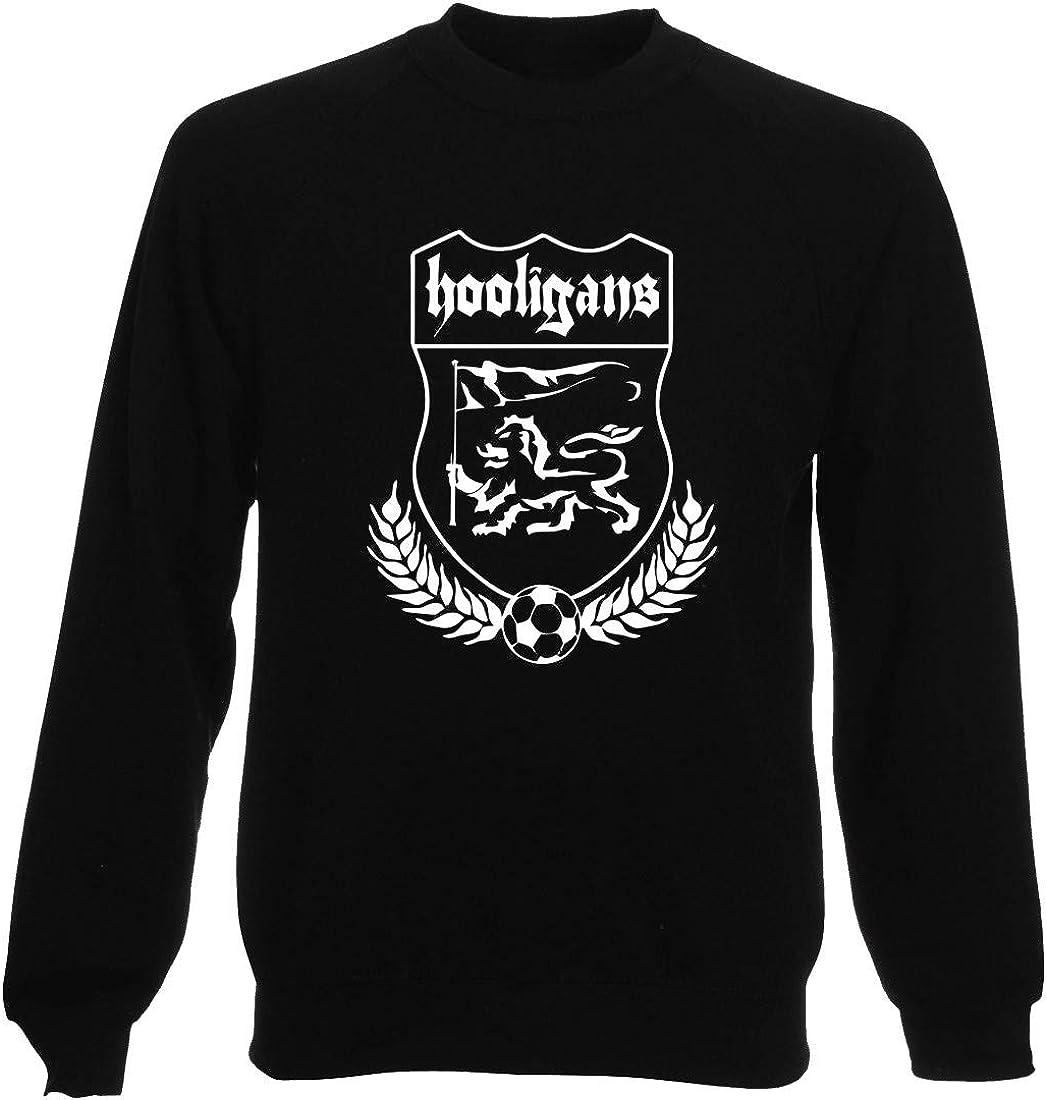 T-Shirtshock Sweatshirt Ras du Cou por Homme Noir TUM0105 Hooligan