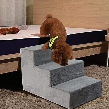 Welltobuy Escaleras para Perros Que suben Escaleras de Esponja para Cama Alta, sofá Escalera para Mascotas Escalera para Mascotas para Gatos pequeños ...