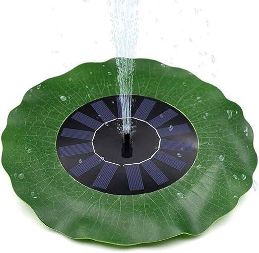 Fuente Solar, Fuente De Jardín Redonda De Loto con 4 Boquillas Adecuadas para La Ducha De Aves, Estanque De Bomba De Agua Y Estanque De Peces Pequeños: Amazon.es: Hogar