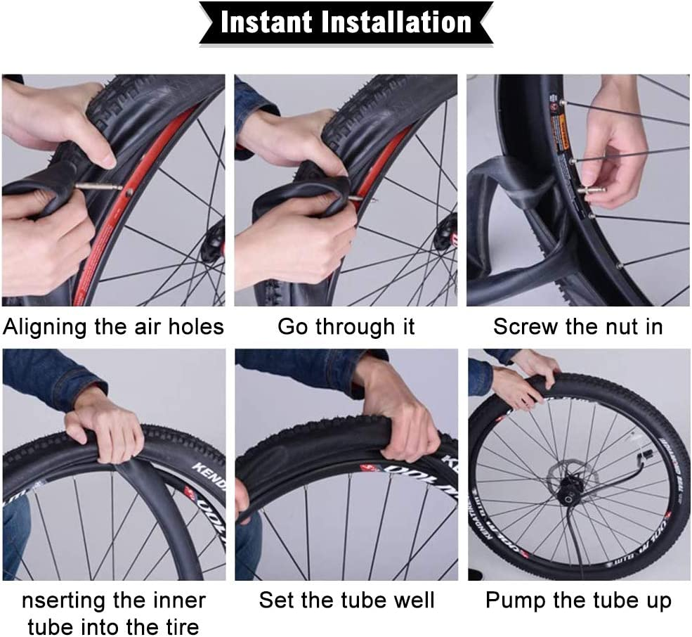 Interior Tire Tube Road MTB Bike Inner Tube Tyres 32mm BMX MTB Bicycle Tires OUTFANDIA Bike Tube with 2 Tire Levers 2pcs 20 Bike Inner Tubes,Fit Width 1.95//2.10//2.125 Schrader Valve