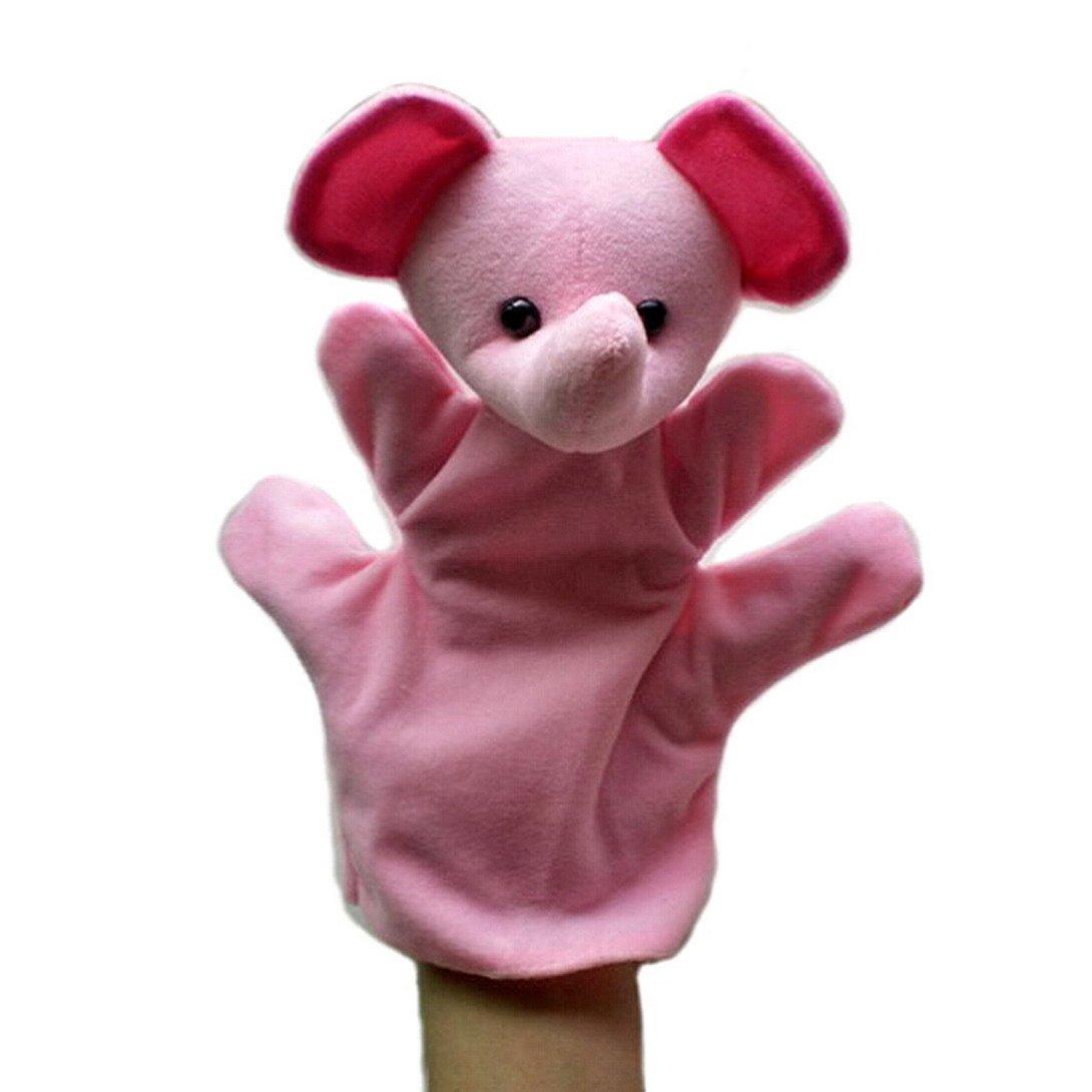 Happy Cherry Set de 5 Marionetas Juguetes Juegos de Manos Dedos de Animal Peluche para Beb/és Ni/ños ni/ñas Cuentacuentos - Serpiente // Lobo // Gallina // Panda // Rata