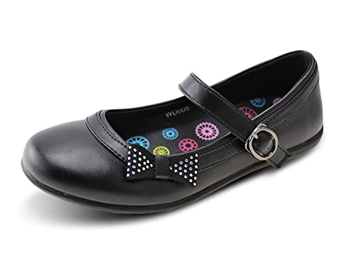 51c9e4a152ce2 Amazon.com: Wayee Mary Jane School Uniform Flat Shoes for Girls ...