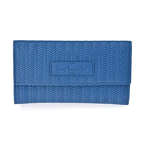 Monedero de Doble Solapa Mujer Espiga Guy Laroche 7204 (Azul ...