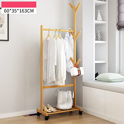 Multipurpose Wooden Coat And Shoe Rack Garment Rack Waterproof Simple Assemble Coat Racks Hat Bag & Amazon.com: Multipurpose Wooden Coat And Shoe Rack Garment Rack ...