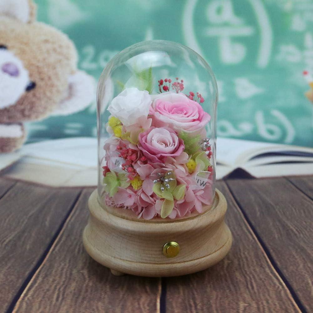 qiyanCreative Eternal Flower Glass Landscape Crown Class Cover ...