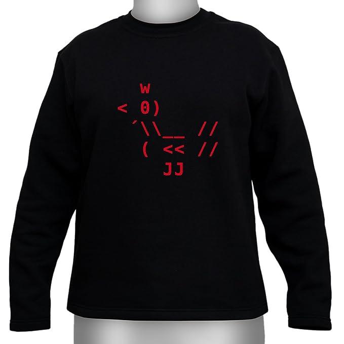 ASCII pollo tipo: - Sudadera para gamer y Geeks negro Small: Amazon.es: Ropa y accesorios