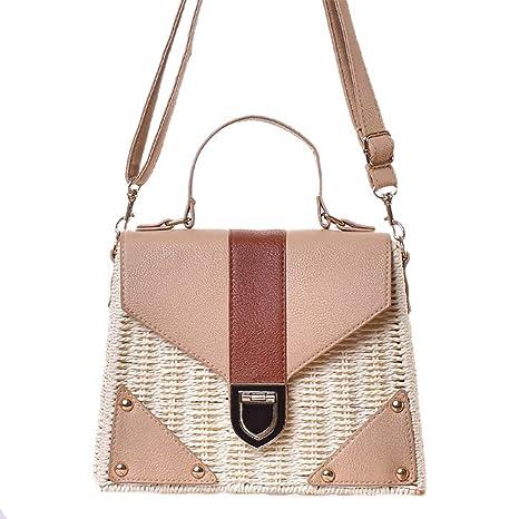 Qinlee - Bolso bandolera cruzado para mujer, bolso de playa ...