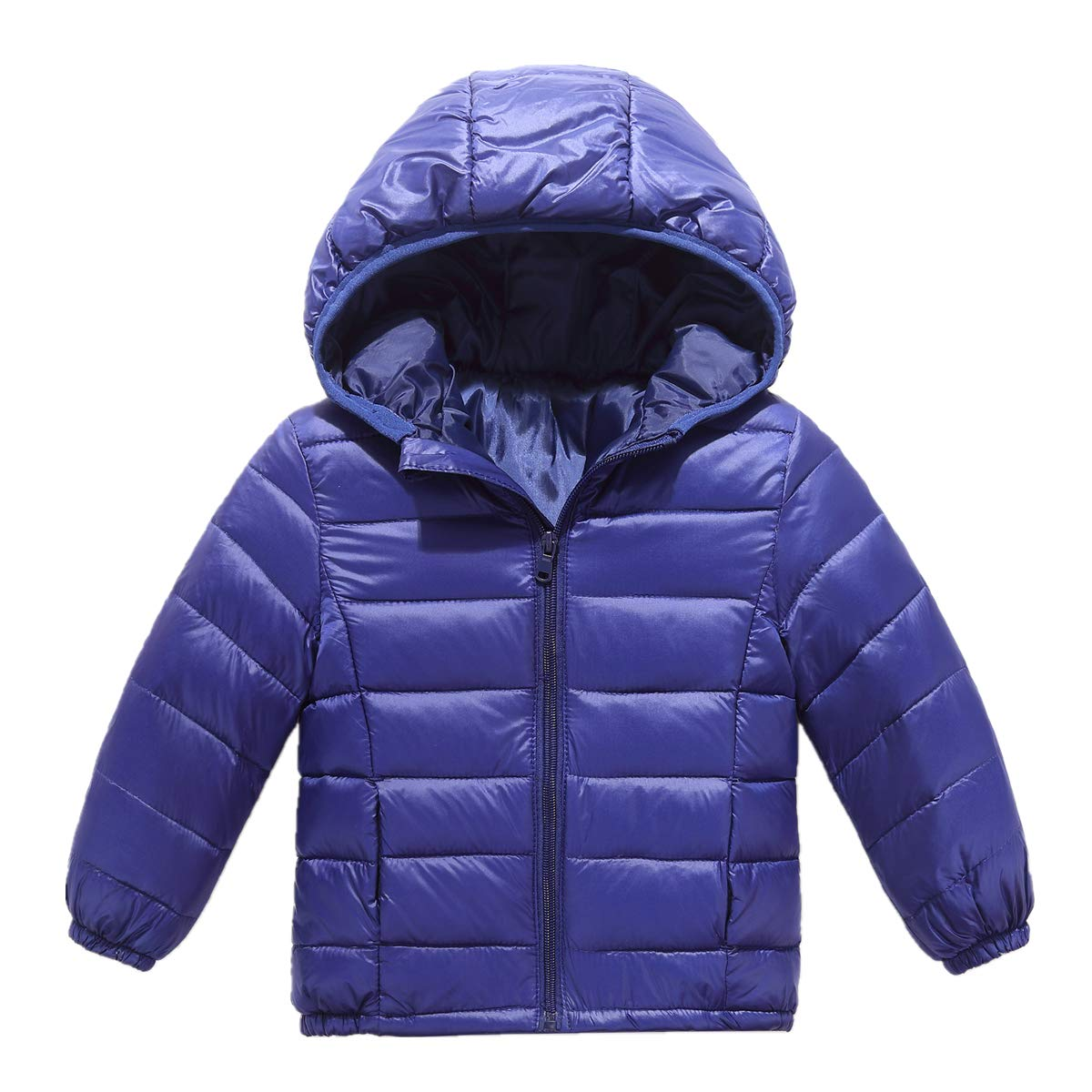 RUI CHENG Kid Down Outwear Boys Girls Lightweight Puffer Hooded Quilted Puffer Coat 2 8 Y