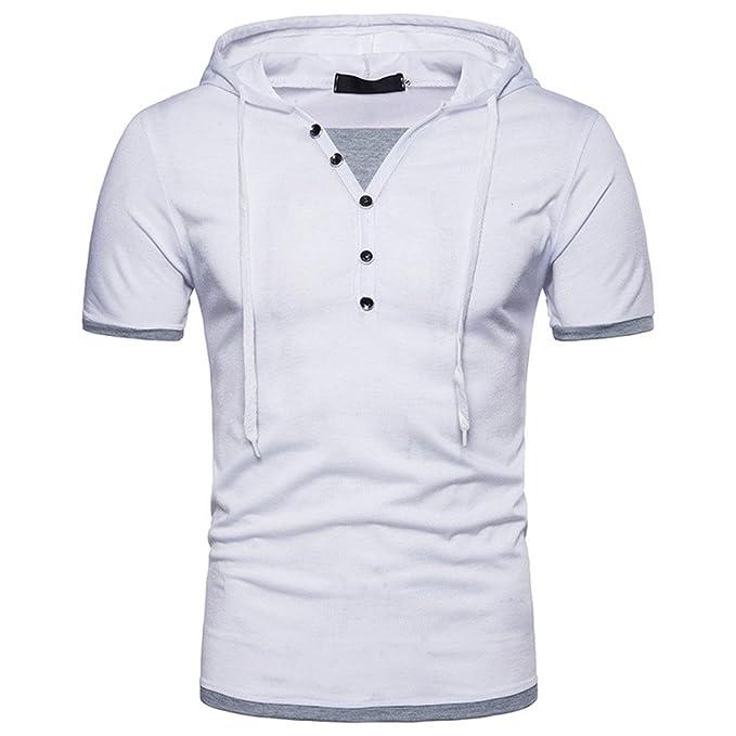 JUTOO 2019 Moda para Hombre Verano Casual Sudadera con Capucha Hip Hop  Camiseta de Manga Corta Top Blusa  Amazon.es  Ropa y accesorios b1cd1d72b9841