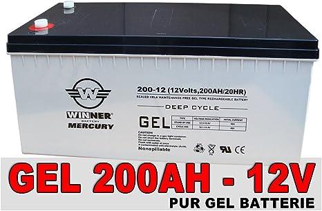 Gel-Batería 200Ah batería de alimentación de batería Solar de propulsión Mover motonave batería de ciclo profundo muy 210Ah: Amazon.es: Electrónica