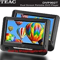 "TEAC 9"" Portable Dual Screen DVD Player DVP902T"