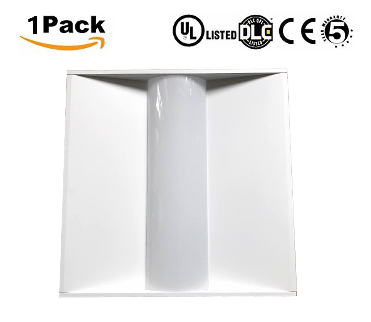 LED Troffer Light Fixture, Jimwhen 2x2 FT Volumetric Troffer, 30W Architectural Troffer,4000K Cool White,0-10V Dimmable,Metal Commercial Drop Ceiling Light for Office, School