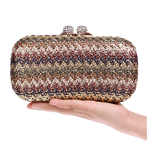 Women's 3 Nightclub QEQE Luxury Classic Bag European American Color Evening 2 Clutch Bag And Evening Beautifully Gorgeous Woven Women's Bag 0A0xXwHtqr