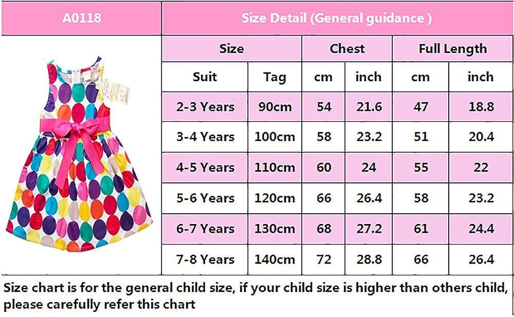 7167e29318e3 Amazon.com  Abalaco Girls 100% Cotton Colorful Polka Summer Sleeveless  Sundress Tutu Dress 2-8T  Clothing