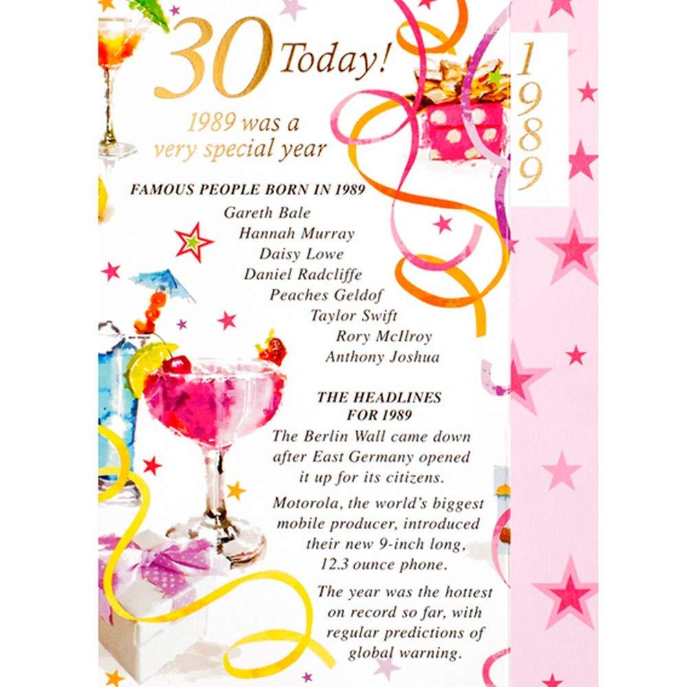 Tarjeta de felicitación de cumpleaños para mujer de 30 años ...