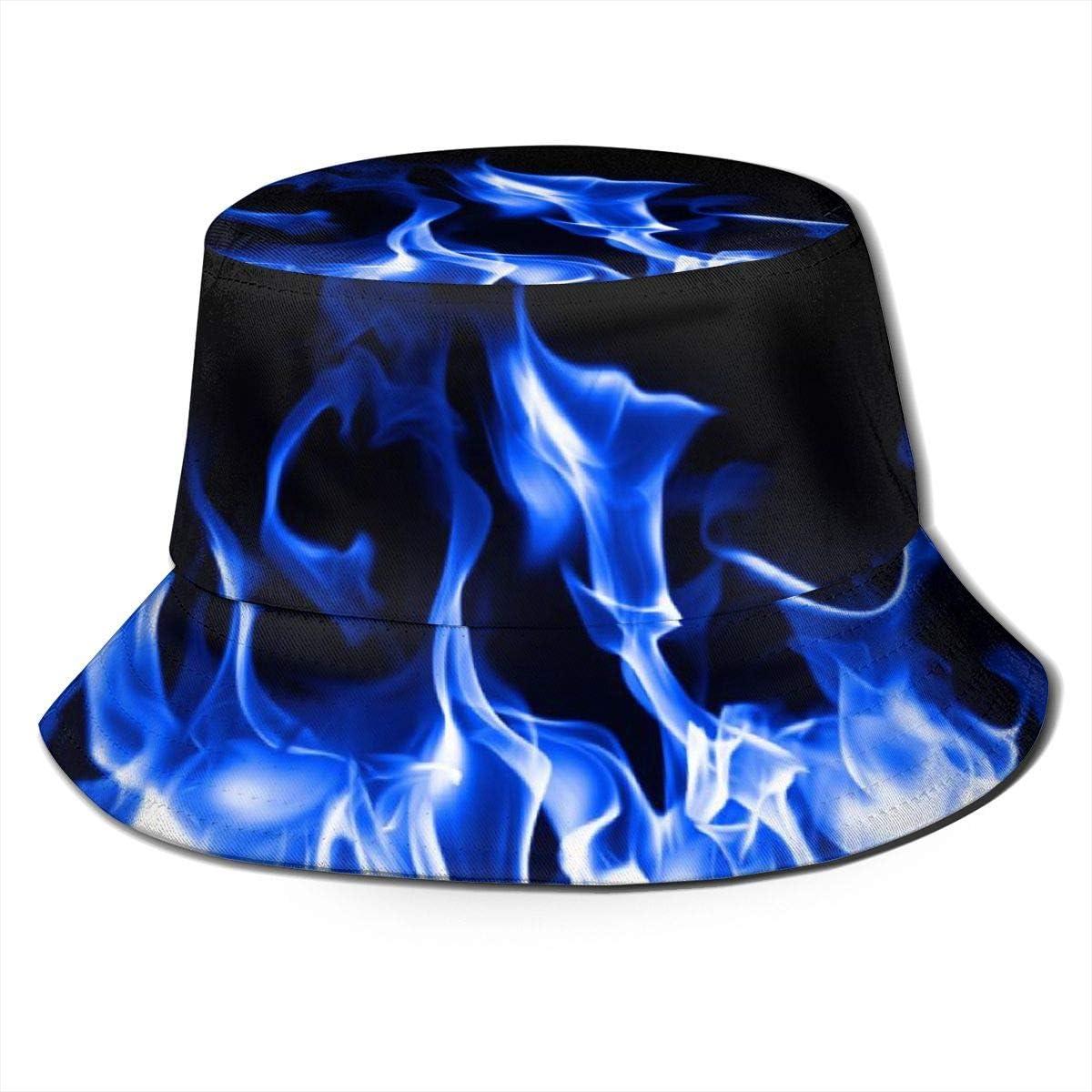 Blue Fire Bucket Hat Summer...