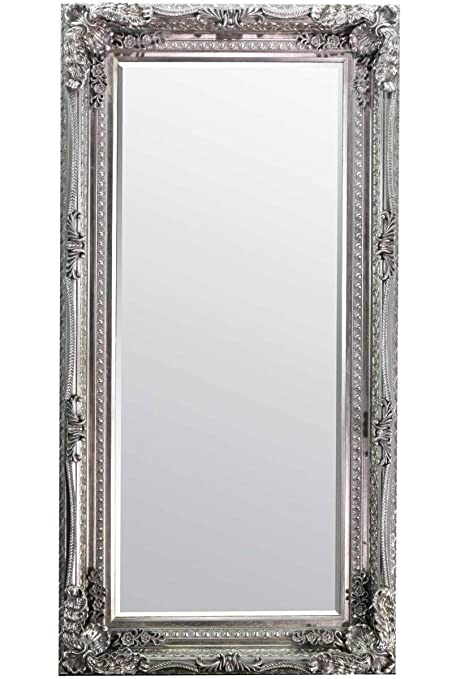 Awe Inspiring 6Ft X 3Ft 180Cm X 90Cm Large Silver Shabby Chic Bevelled Big Wall Mirror New Interior Design Ideas Gentotryabchikinfo