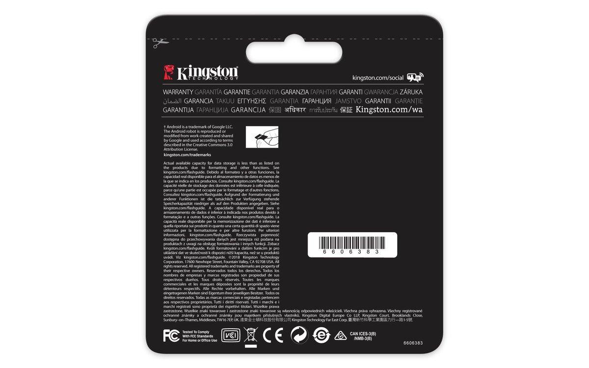Kingston Canvas React 64GB microSDXC Class 10 microSD Memory Card UHS-I 100MB//s R Flash Memory High Speed microSD Card with Adapter SDCR//64GB