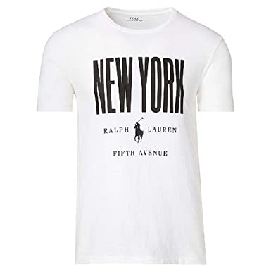 Polo Ralph Lauren 710713502002 T-Shirt Homme Blanc L  Amazon.fr ... fcfd42f591d