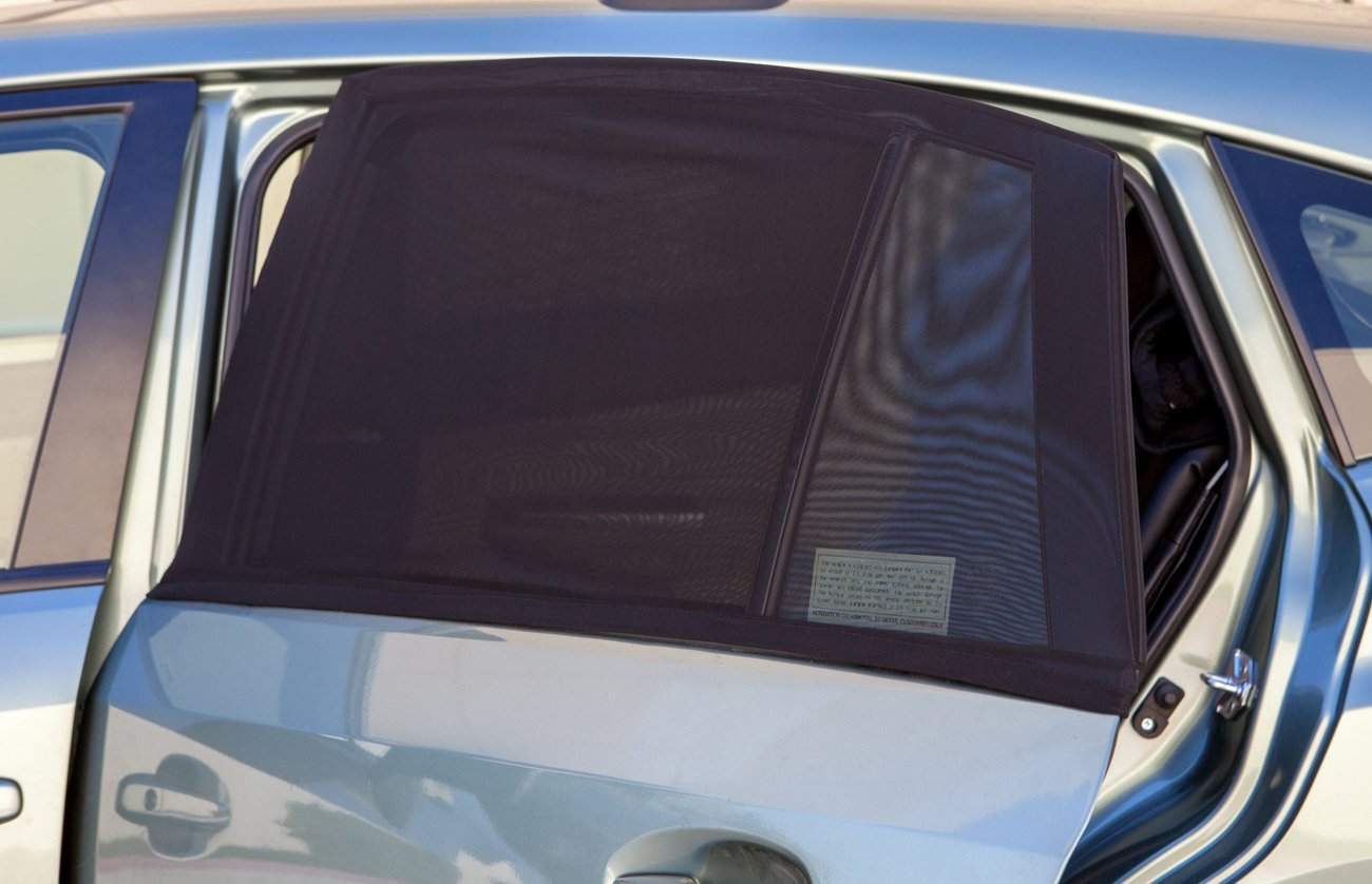 OxGord Back Window Car Sun Shade for Baby (Pack of 2) Universal Fit Air Mesh Screen Sunshade Cover fits Most Cars & SUVs CASX-02
