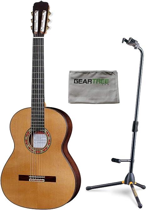 Jose Ramirez Studio 1 Guitarra clásica con funda, paño y soporte ...