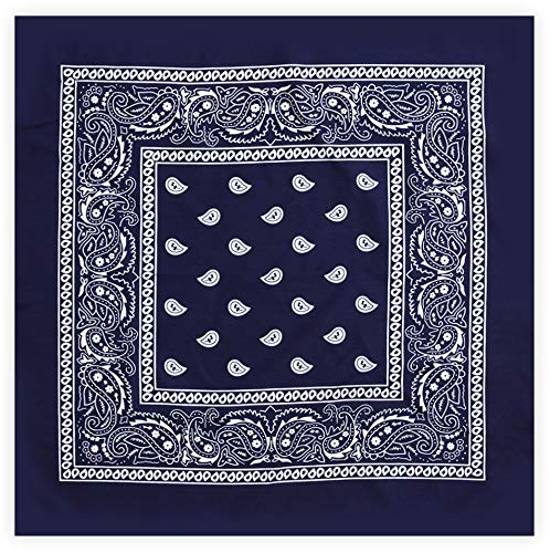 Bandanas for Men & Women - Paisley Bandana - Wear it as a Headband, Head Wrap, Scarf, Cowboy Neckerchief Costume, Novelty Handkerchief, Wristband, Sports & Fashion - 100% Polyester - ()