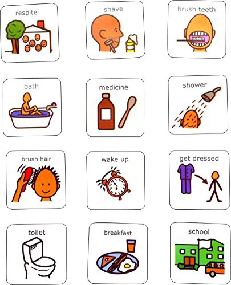 Amazon Visual Morning Routine Aac Picture Communication
