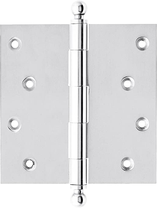 House of Antique Hardware W-04HH-220-PC Solid Brass Door Hinge with Ball Finials 3 1//2 in Polished Chrome
