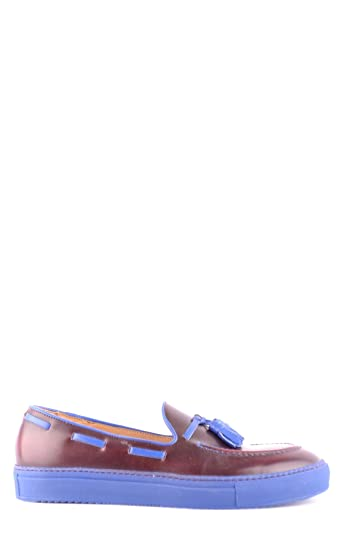 Men's MCBI097061O Burgundy Leather Loafers