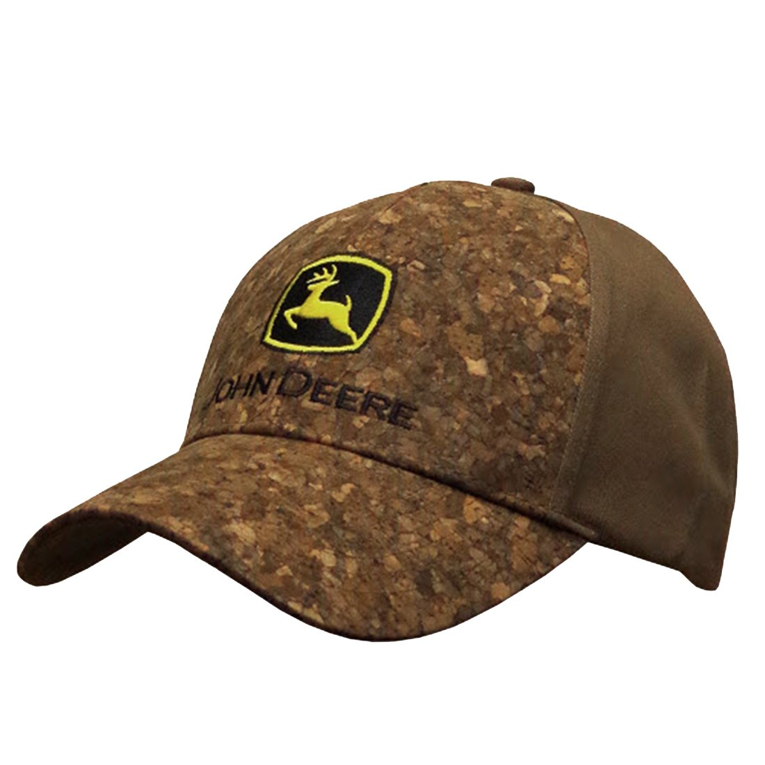 7f6faf8046c John Deere Bark Front Hat with Industrial Logo Brown at Amazon Men s  Clothing store