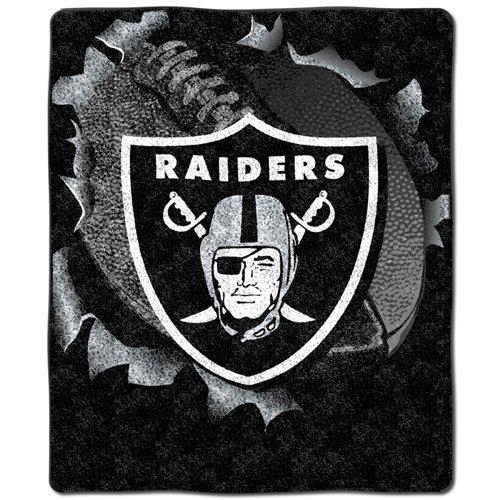 Burst Throw - BSS - Oakland Raiders NFL Sherpa Throw (Big Burst Series) (50x60