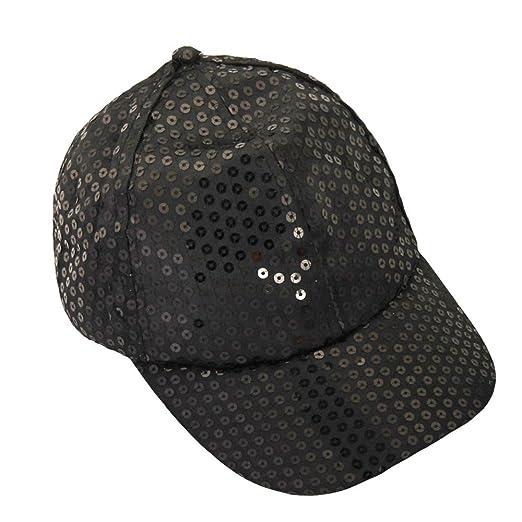 DDKK Summer Old Fashion Breathable Bling Shining Baseball Cap for Men Women  Adjustable Visor Hat (Black 1fcab54d25d