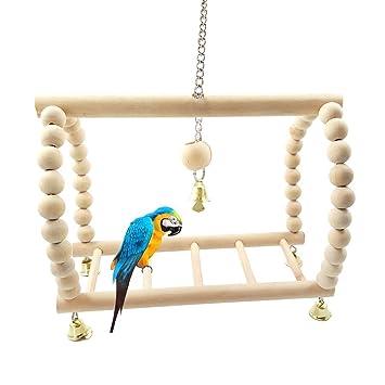 Vogel Escalera de madera Escalada Papagayo, Pájaro juguete colgar Escalada, Pájaro jaula Escalera para
