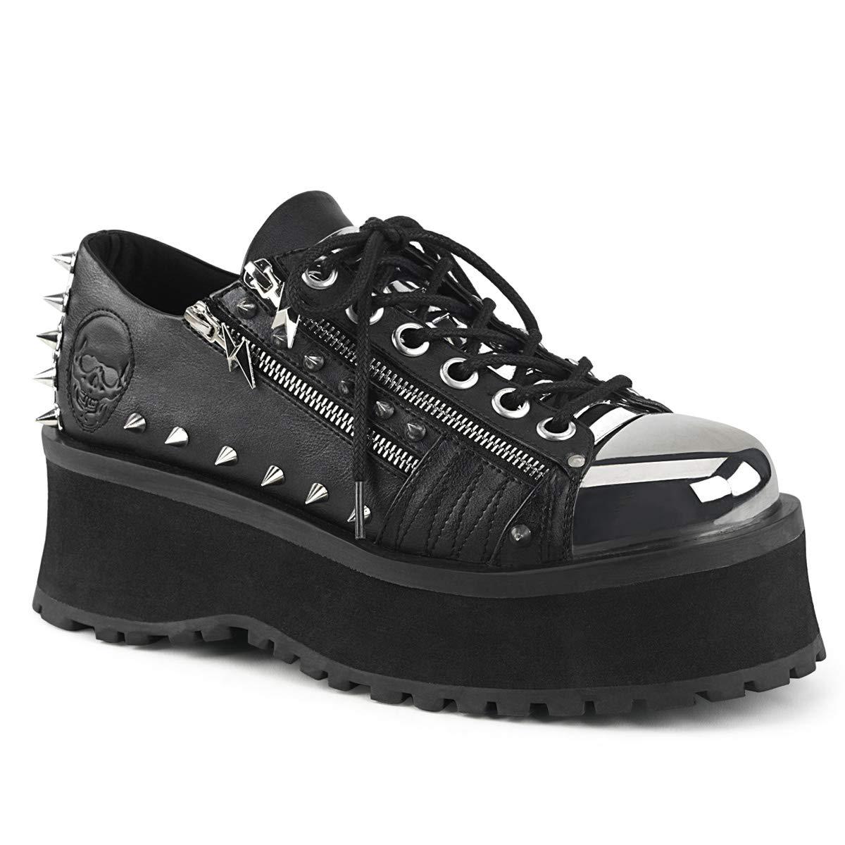 Schwarz Demonia Herren Platform Oxford Schnrer Gravedigger-04 schwarz schwarz schwarz vegan Leather d02