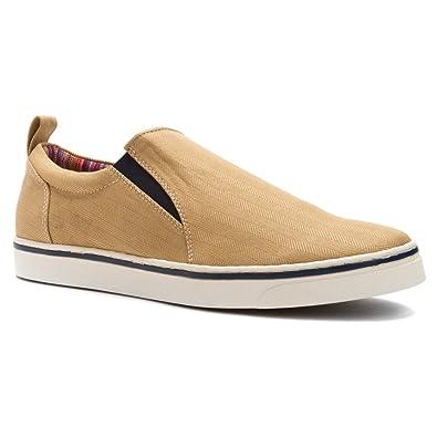 Amazon.com | Vionic Conner - Mens Slip-On with Orthotics Light Tan - 8 |  Loafers & Slip-Ons