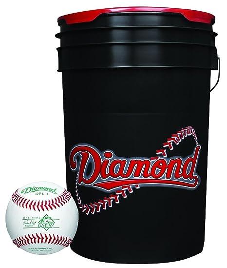 Diamond 6-gallon bola cubo con 30 dpl-1 Pony Liga pelotas: Amazon ...