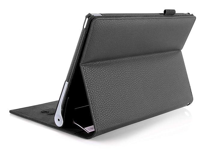 ISIN Funda para Tablet Serie Funda de Premium PU con Stand Función para Lenovo Yoga Tablet 2 10 de 10,1 pulgadas 1050 Android Tablet con Velcro Correa ...