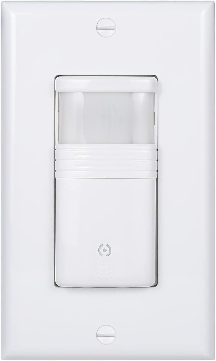 White Motion Sensor Light Switch Neutral Wire Required Vacancy /& Occupancy Modes